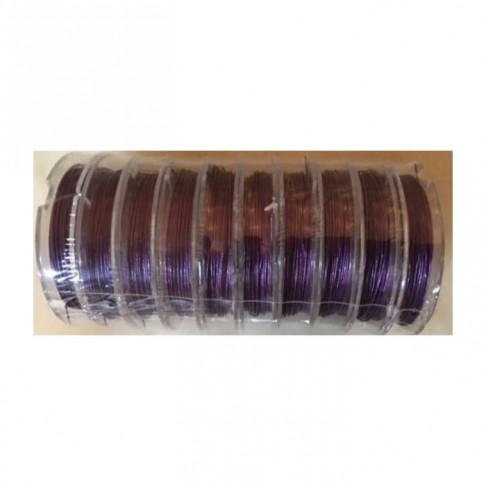 VP-04511  Vėrimo troselis, 0.45mm, (10m), tamsiai violetinis