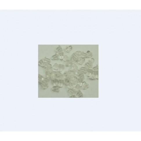 7-8588 Auskarams spaustukas, skaidrus, 5mm