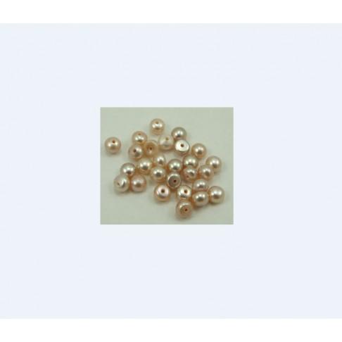 PER-1528 Gėlav. perlo kabošonas, pusiau gręžtas, 5mm, už 2vnt.