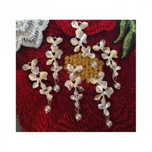"""SID-3377  Pakabukas """"Orchidėjos"""", apie 13x37mm"""