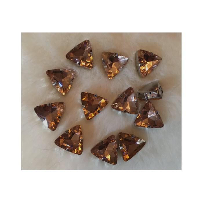 """DT-TR1183 Detalė-intarpas, """"Trikampis"""", 18mm, kristalo NUDE sp."""