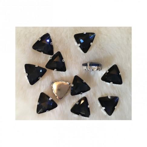 "DT-TR1182 Detalė-intarpas, ""Trikampis"", 18mm, kristalo MONTANA MĖLYNA sp."