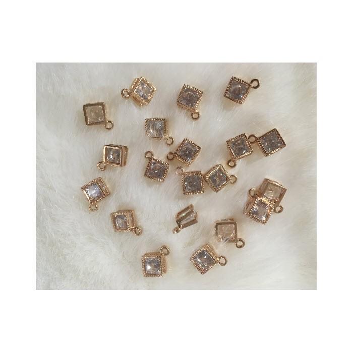 """AUK-CK13401  Pakabutis su kristalo akute, 13mm, """"Kampuotas"""""""