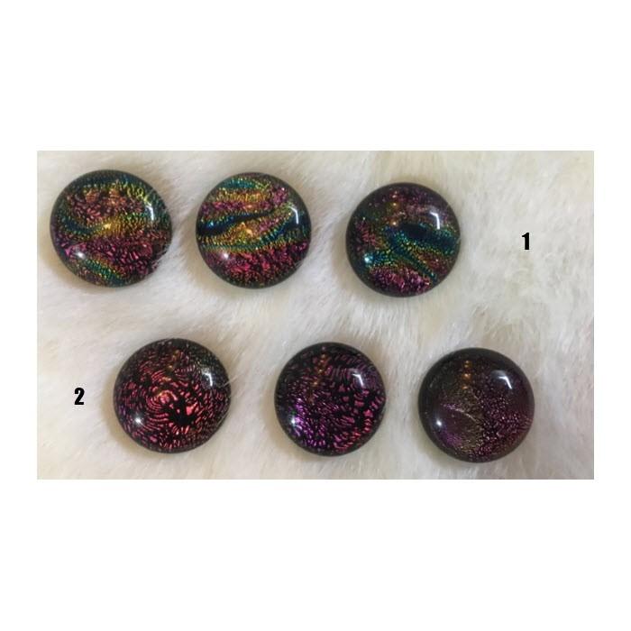 CH-K4  Rankų darbo stiklo kabošonai, apie 18mm,  3 vnt., NR 4