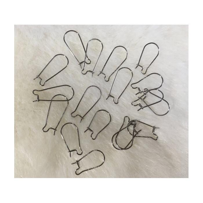 7-NP88454  Nerūdyjančio plieno,  auskarams, už porą, 20mm