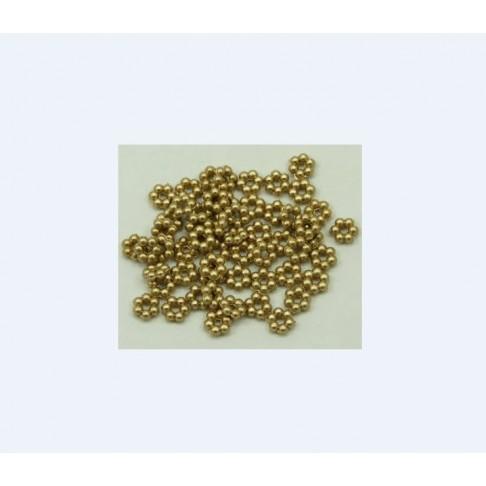 AUK-20569 Akrilinis karoliukas, aukso sp, 6.5x2mm