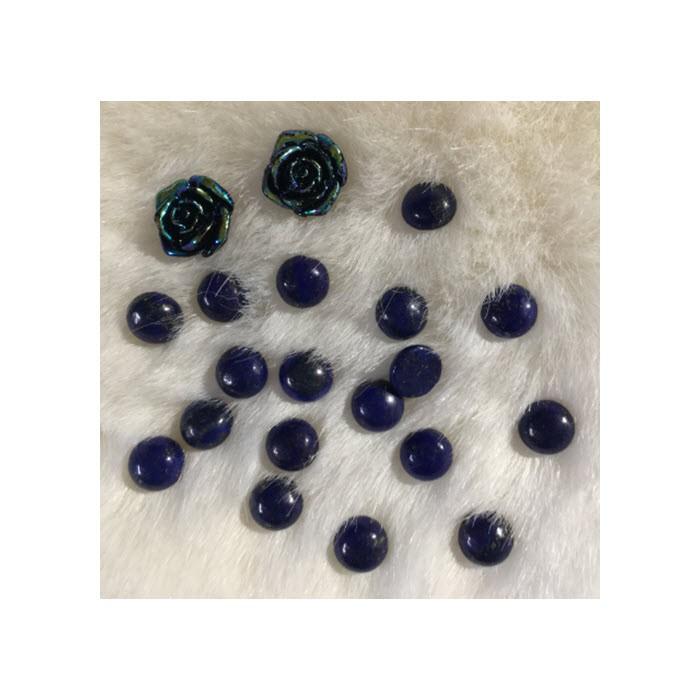 KAB-18281 Lapis lazuli, kabošonas, apie 10mm, 1 vnt.
