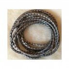 V-61986 Nat., odos virvutė, 3mm, sidabro sp., 60 cm.