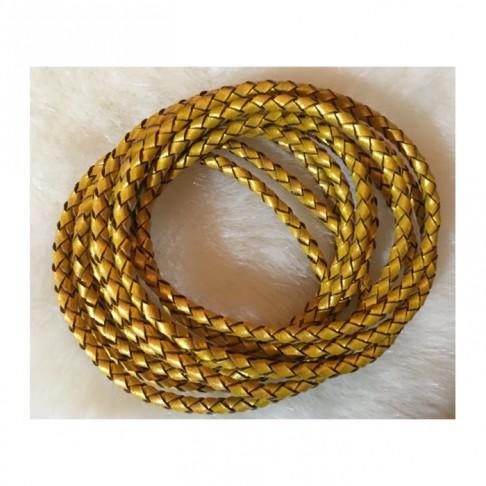 V-61985 Nat., odos virvutė, 3mm, aukso sp., 60 cm.