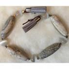AK-98441 Karoliukų rinkinys, 14x40, 12mm, agatas, katės akis, (nuotraukoje).