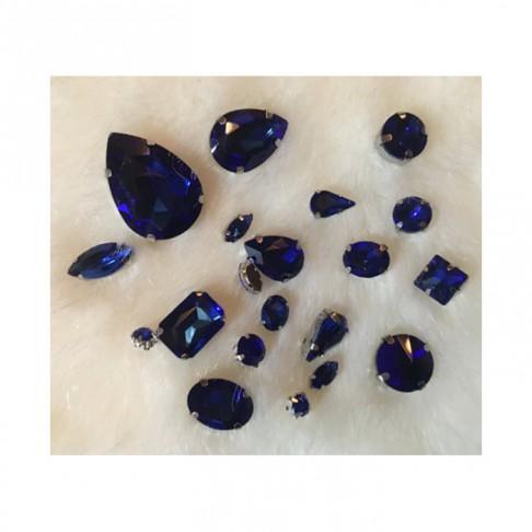 KRS-KPS6  Prisiuvamų kristalo detalių rinkinys, MĖLYNA