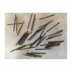 7-NP1672  Nerūdyjančio plieno  , 25x1.5mm, vamzdelis, karoliukas-intaras.
